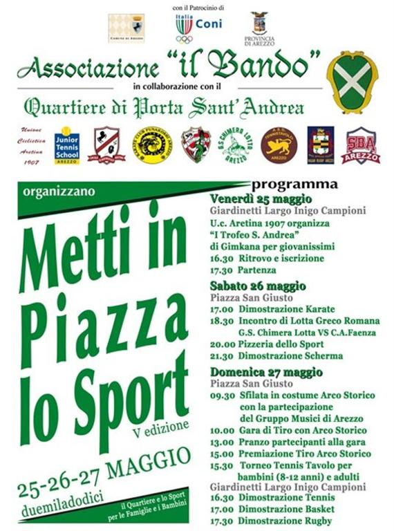 25-26-27 Maggio Metti in piazza lo sport 2012