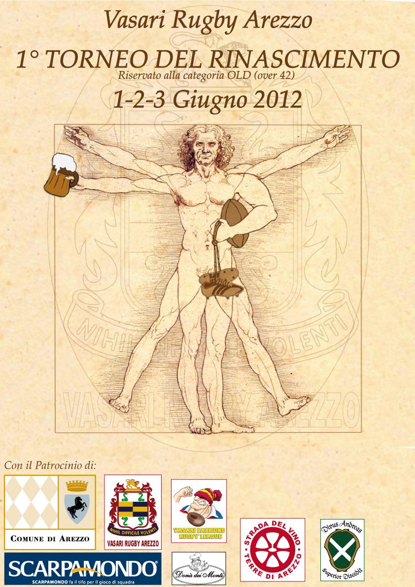 """Sabato 2 giugno 2012 1° """"Torneo del rinascimento"""" Torneo Internazionale categoria OLD (over 42)"""